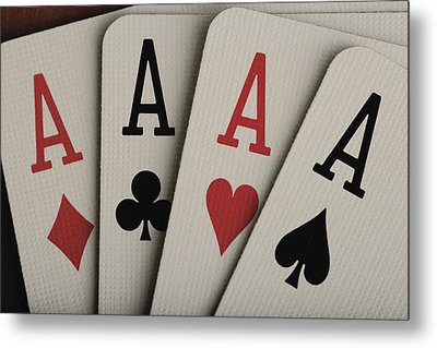 Four Aces Studio Metal Print by Darren Greenwood