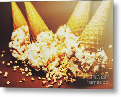 Four Artistic Ice-cream Cones Metal Print by Jorgo Photography - Wall Art Gallery