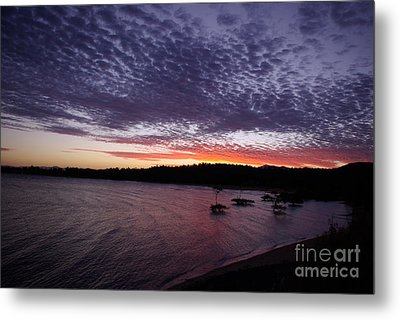 Four Elements Sunset Sequence 7 Coconuts Qld  Metal Print by Kerryn Madsen - Pietsch