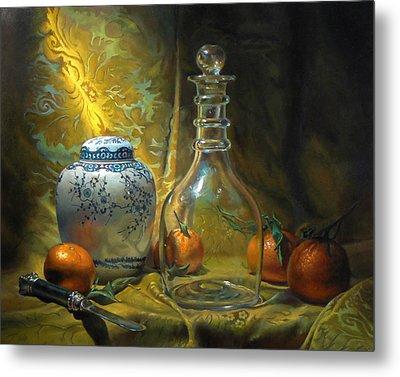 Four Oranges Metal Print by Jeffrey Hayes