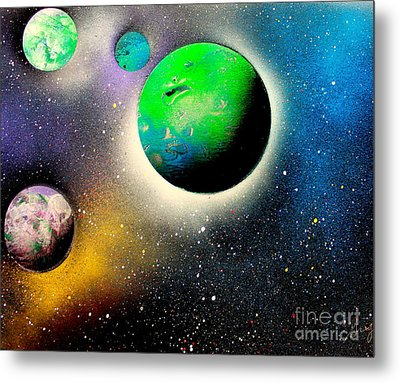 Four Planets 02 E Metal Print by Greg Moores