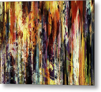 Four Seasons In One Forest Abstract Metal Print