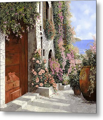 four seasons- spring in Tuscany Metal Print by Guido Borelli