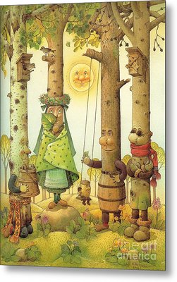 Four Trees Metal Print by Kestutis Kasparavicius