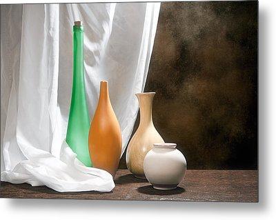 Four Vases I Metal Print