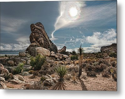 Four Way Clouds Metal Print by Gary Zuercher