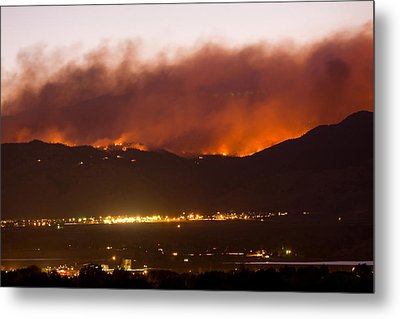 Fourmile Canyon Fire Burning Above North Boulder Metal Print by James BO  Insogna