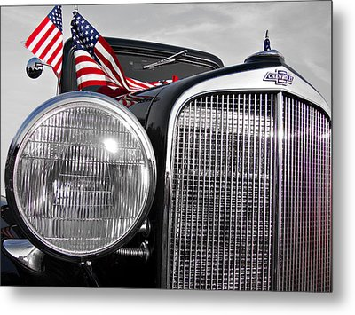 Fourth Of July-chevvy  Metal Print by Douglas Barnard