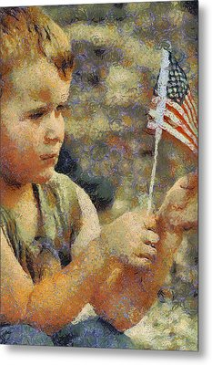 Fourth Of July Metal Print by Elaine Frink