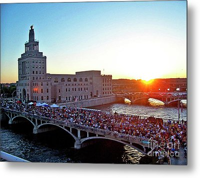 Fourth Of July In Cedar Rapids Ia 2005 Metal Print by Jenness Asby