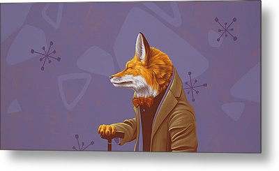 Fox Metal Print by Jasper Oostland