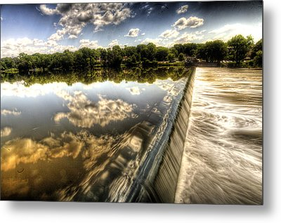 Fox River At The Geneva Dam Metal Print