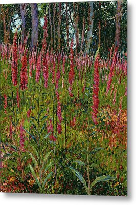 Foxgloves Metal Print by Georges Lacombe