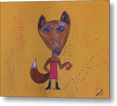 Foxxxy Metal Print by Tatum Chestnut