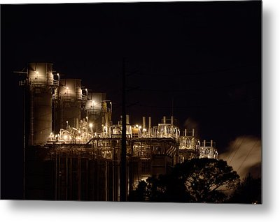 Metal Print featuring the photograph Fpl Natural Gas Power Plant  by Bradford Martin