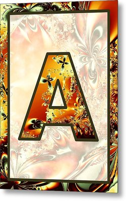 Fractal - Alphabet - A Is For Abstract Metal Print by Anastasiya Malakhova