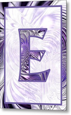 Fractal - Alphabet - E Is For Elegance Metal Print by Anastasiya Malakhova