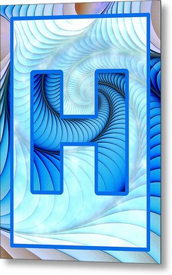 Fractal - Alphabet - H Is For Hypnosis Metal Print