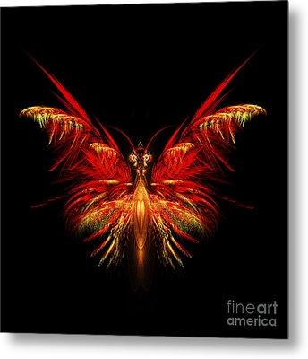 Fractal Butterfly Metal Print by John Edwards