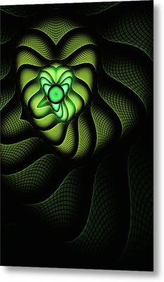 Fractal Cobra Metal Print by John Edwards