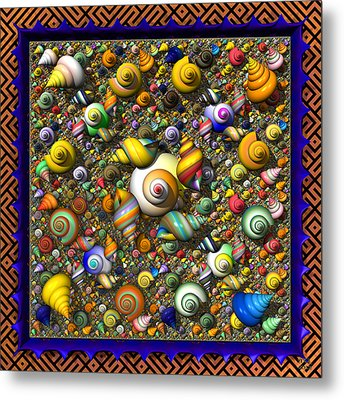 Fractal Shell Collector Metal Print