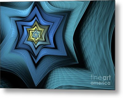 Fractal Star Metal Print by John Edwards