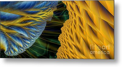 Fractal Storm Metal Print by Ron Bissett