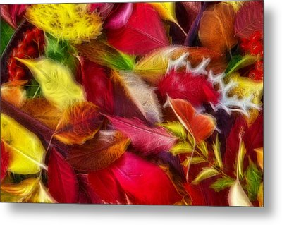 Metal Print featuring the photograph Fractalius Leaves by Shane Bechler