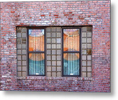 Fracture Reflection Metal Print