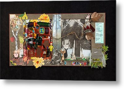 Fractured Fairy Tales Coming Home Metal Print by Mark Lubich