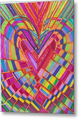 Fractured Heart Metal Print by Brenda Adams