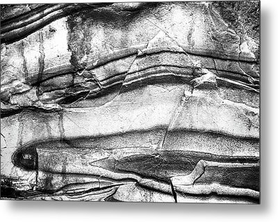 Metal Print featuring the photograph Fractured Rock by Onyonet  Photo Studios