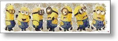 Fragmented And Still In Awe Congratulations Minions Metal Print by Catherine Lott