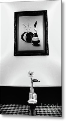 Frame And Flower Metal Print by Charuhas Images
