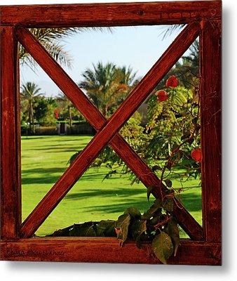 Frame I Metal Print by Chaza Abou El Khair