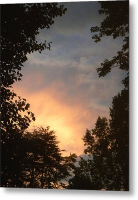 Metal Print featuring the photograph Framed Fire In The Sky by Sandi OReilly