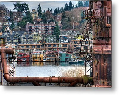 Framed In Seattle Metal Print