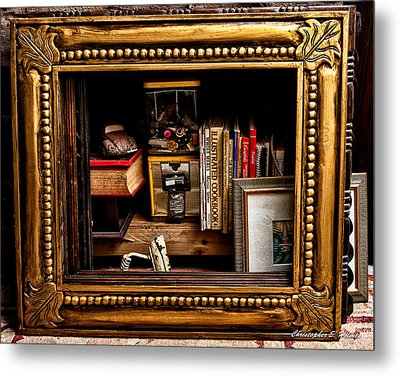 Framed Odds And Ends Metal Print by Christopher Holmes