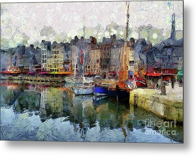 France Fishing Village Metal Print by Claire Bull