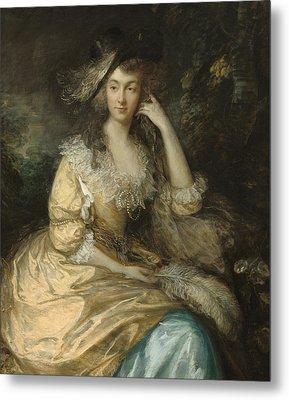 Frances Susanna Lady De Dunstanville Metal Print by Thomas Gainsborough