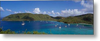 Francis And Maho Bays Virgin Islands Metal Print by Panoramic Images