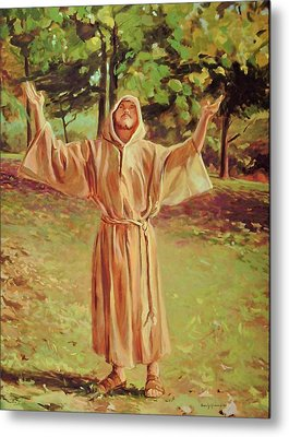 Francis Of Assisi Metal Print by Beverly Klucher