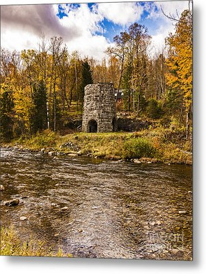 Metal Print featuring the photograph Franconia Fall by Anthony Baatz