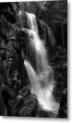 Franconia Notch Waterfall Metal Print
