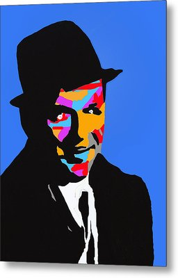 Metal Print featuring the drawing Frank Feeling Blue by Robert Margetts