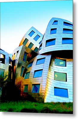 Frank Gehry 3 Metal Print by Randall Weidner