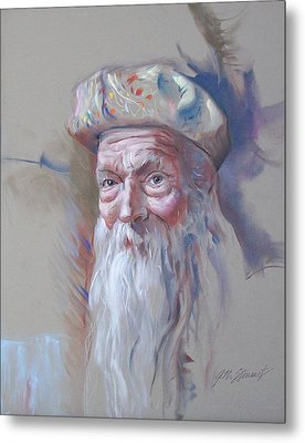 Metal Print featuring the pastel Frank by John Norman Stewart