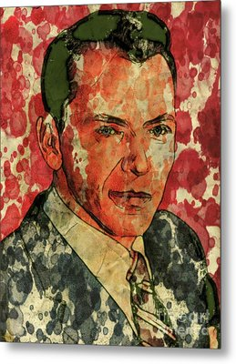 Frank Sinatra Hollywood Singer And Actor Metal Print