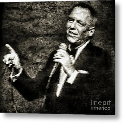 Frank Sinatra -  Metal Print by Ian Gledhill