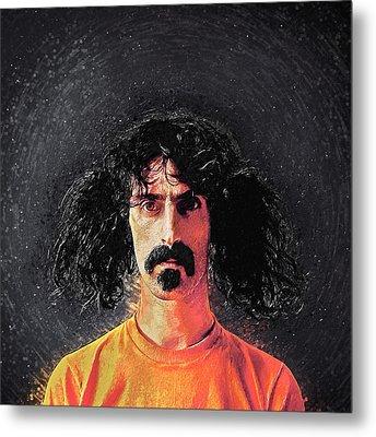 Frank Zappa Metal Print by Taylan Apukovska
